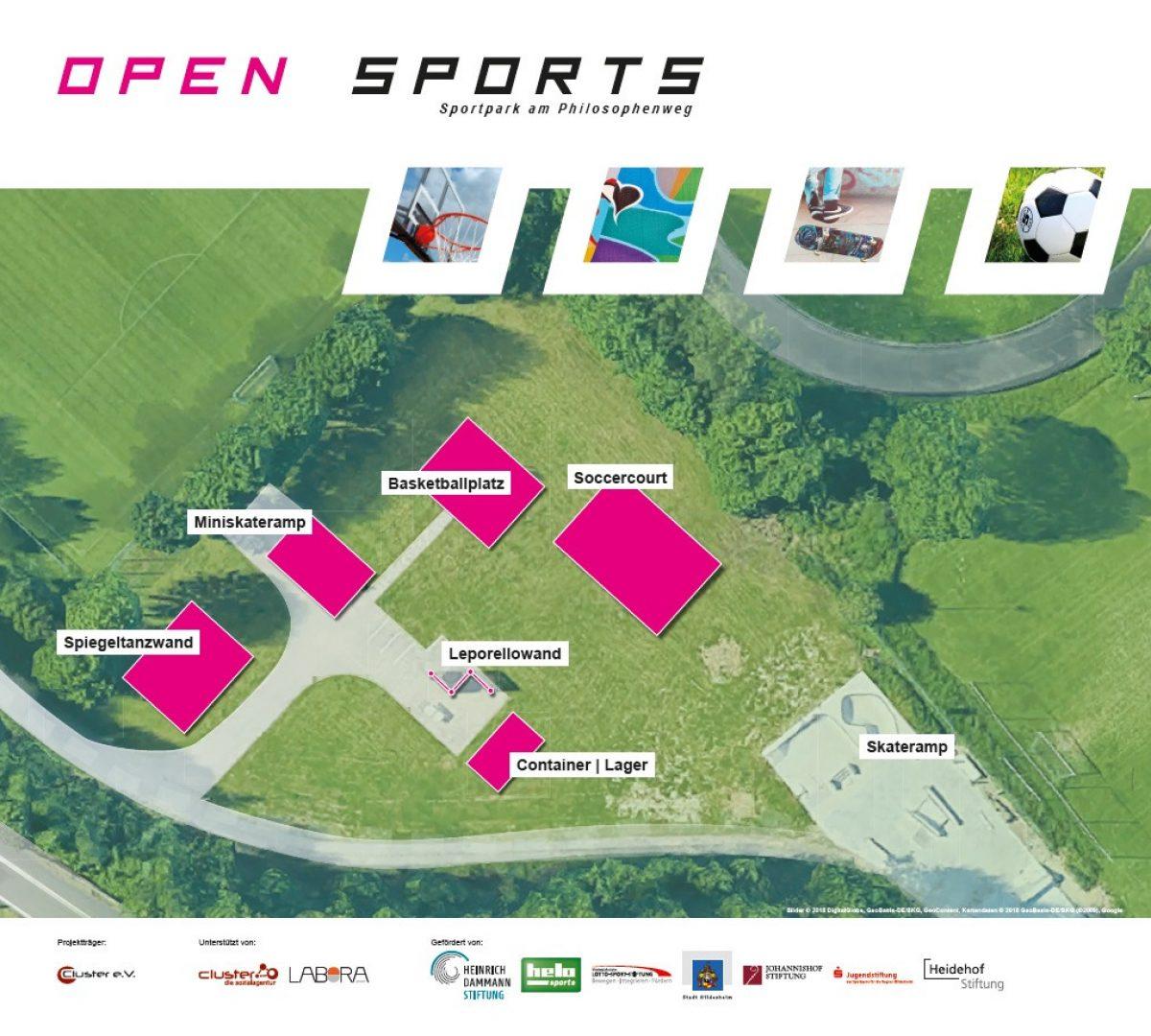 Lageplan Open Sports