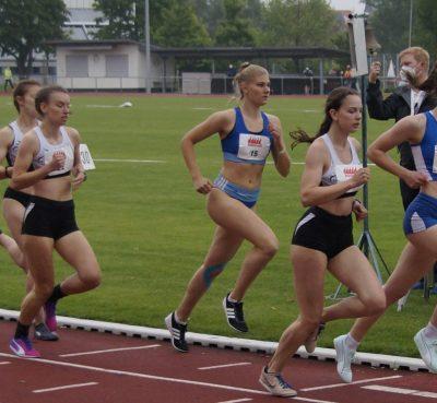 Der abschließende 800 m-Lauf